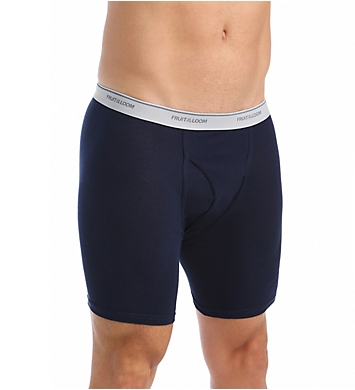 Fruit Of The Loom Big Man Core 100% Cotton Boxer Briefs - 4 Pack