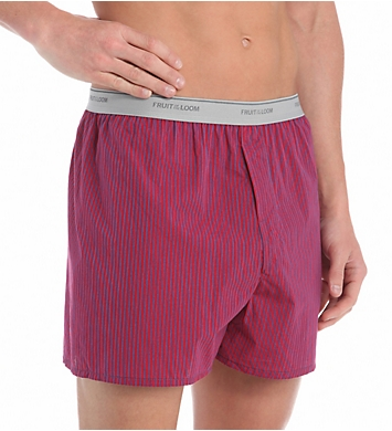 Fruit Of The Loom Men's Assorted Cotton Blend Woven Boxers - 5 Pack