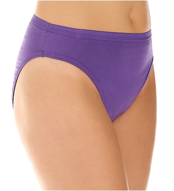 Fruit Of The Loom Ladies Assorted Cotton HiCut Brief - 6 Pack
