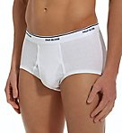 Mens Full Cut 100% Cotton White Briefs - 3 Pack