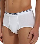 Extended Size 100% Cotton White Briefs - 3 Pack