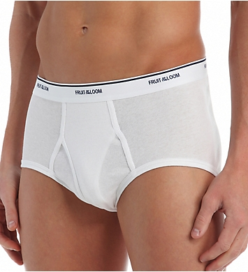 Fruit Of The Loom Big Man Full Cut 100% Cotton White Briefs - 7 Pack