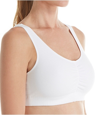 Fruit Of The Loom Shirred Front Removable Pads Sport Bra - 2 Pack
