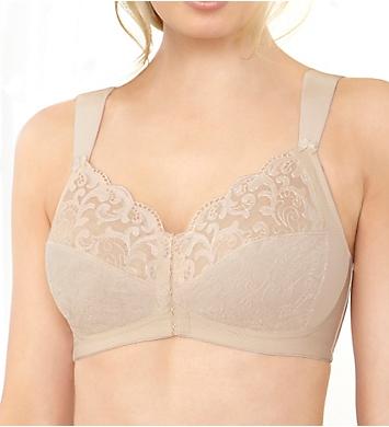 Glamorise Soft Shoulders Front Close T-Back Support Bra
