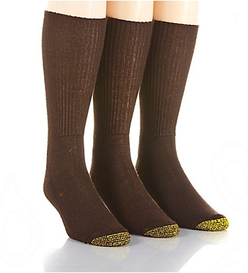 Gold Toe Fluffies Casual Crew Socks - 3 Pack