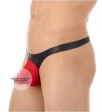 Gregg Homme Two-Timer Hyperstretch Faux Leather Thong