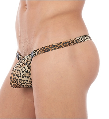 Gregg Homme Desire Leopard Print Snap Away Thong