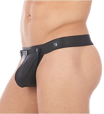 Gregg Homme Shacked Faux Leather Detachable Pouch Thong