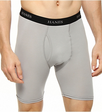 Hanes Cotton Stretch Wicking Long Boxer Briefs - 4 Pack