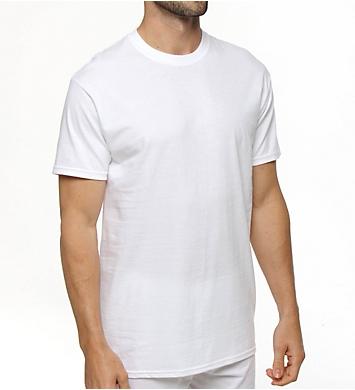 Hanes Premium Cotton White Crew Neck T-Shirts - 3 Pack