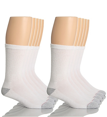 Hanes Classic Super Soft Cotton Crew Socks - 10 Pack