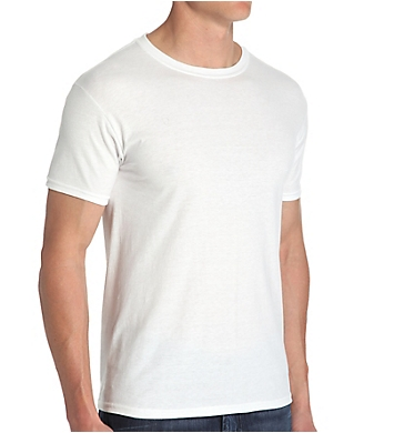 Hanes ComfortBlend Slim Fit Crew T-Shirts - 4 Pack
