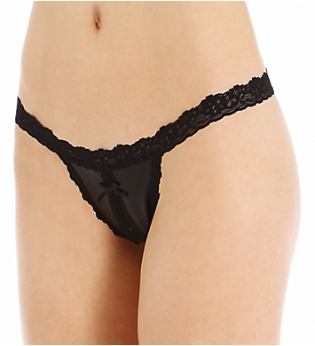 Hanky Panky Slick Signature Lace Crotchless G-String
