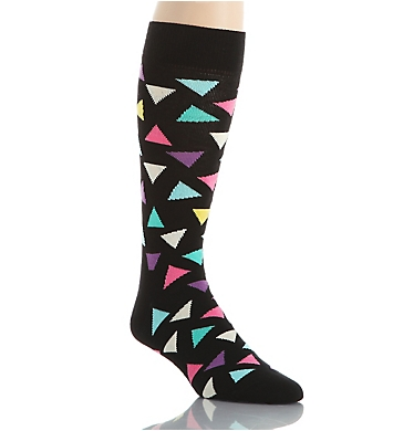 Happy Socks Combed Cotton Big Triangles Crew Sock