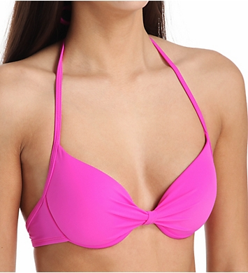 Hurley One and Only Solid Molded Underwire Bra Swim Top