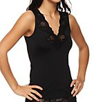 Microfiber Lace Trim V-Neck Tank