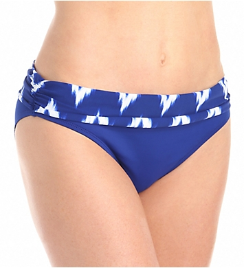 La Blanca Night Waves Shirred Band Hipster Swim Bottom