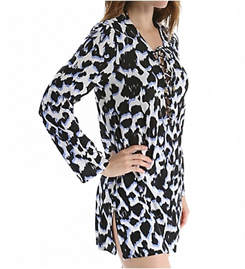 La Blanca In the Shadows Lace-Up Tunic