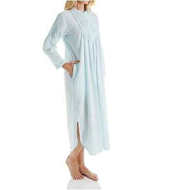 La Cera Long Sleeve Cotton Nightgown