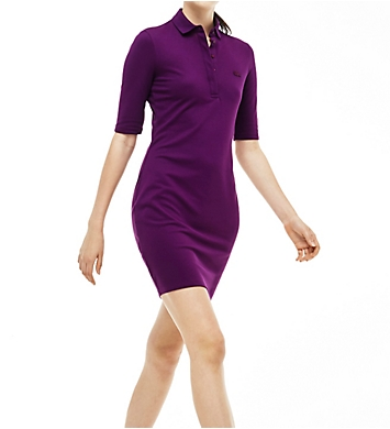 Lacoste Half Sleeve Pique Polo Dress