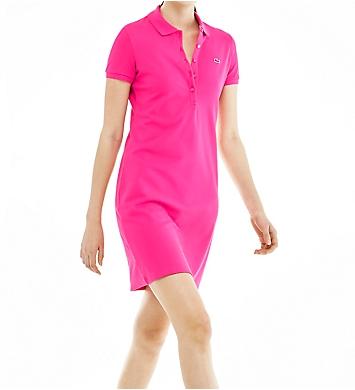Lacoste Short Sleeve Pique Polo Dress