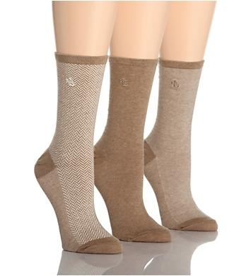 Lauren Ralph Lauren Tweed Cotton Trouser Socks - 3 Pair Pack