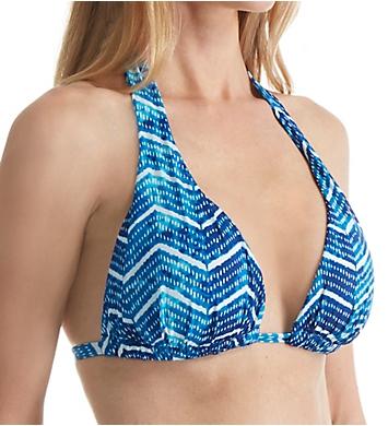 Lauren Ralph Lauren Herringbone Molded Cup Slider Swim Top