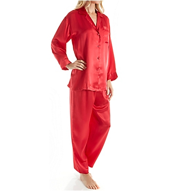 Linda Hartman Classic Hart Long Sleeve Silk PJ Set