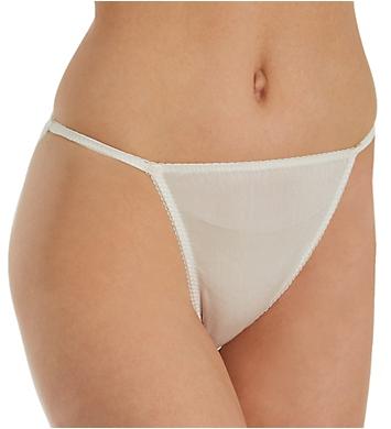 Linda Hartman Silk Knit String Bikini Panty