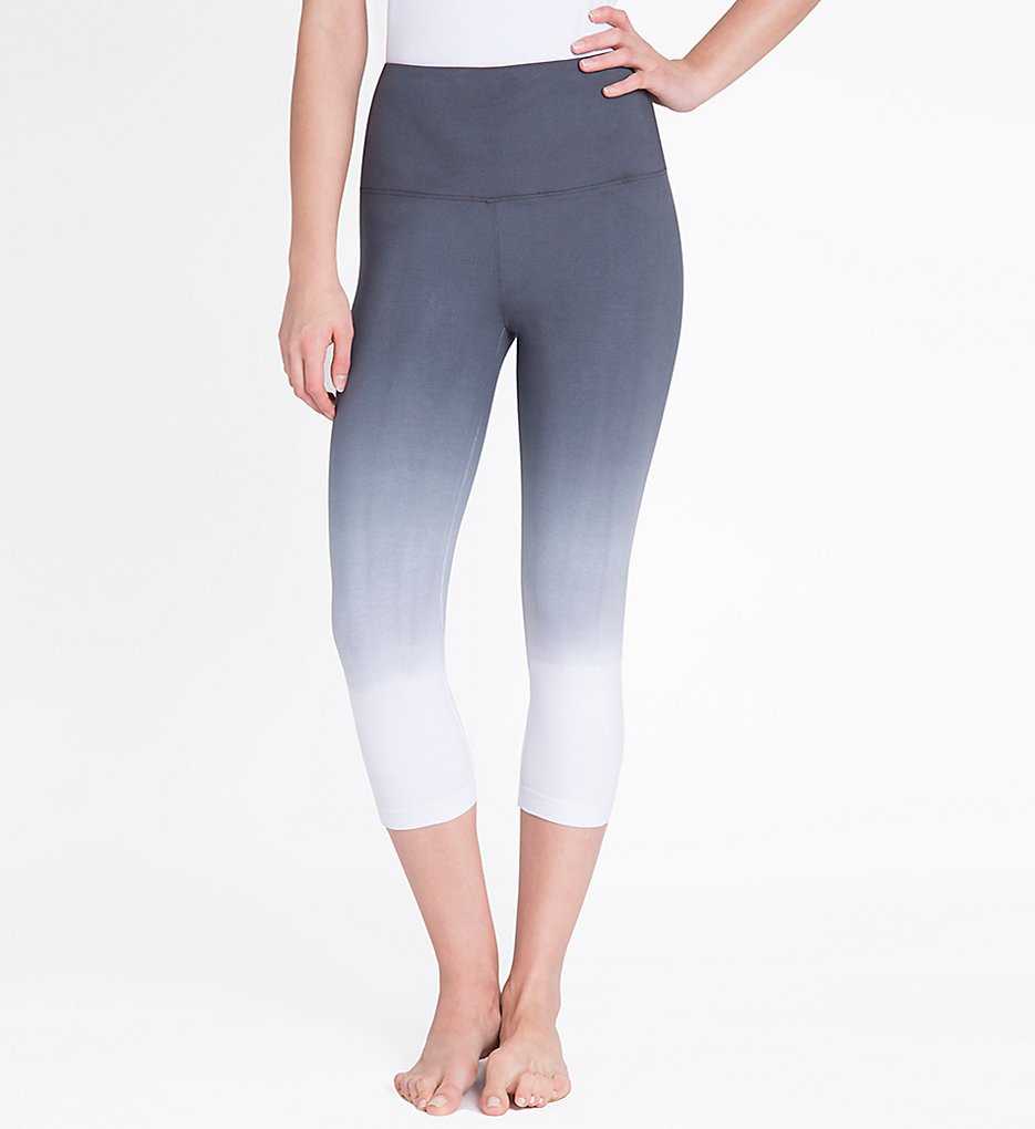 Lysse 1215 Shaping Capri Leggings (Grey Dip Dye)