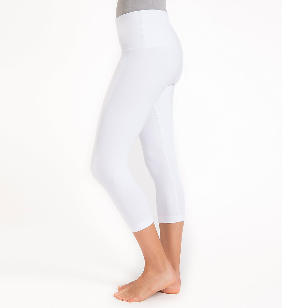 Lysse 1215 Shaping Capri Leggings (White)