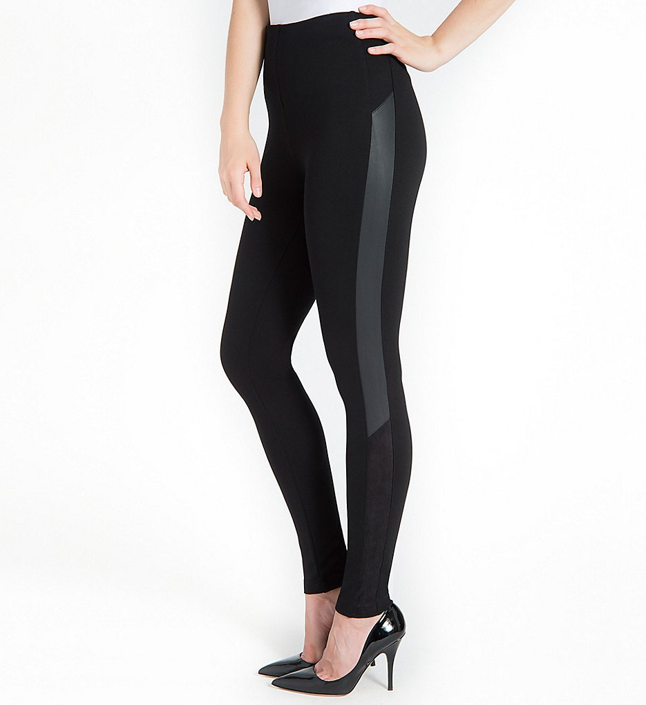 Lysse 1489 Kiara Suede Inset Shaping Leggings (Black)