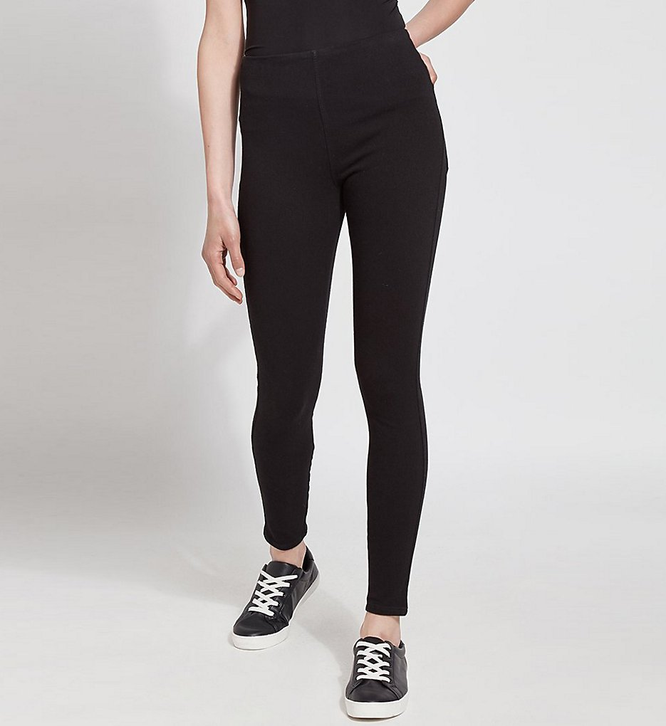 Lysse 1552 Tooth Pick Denim Shaping Leggings (Black)