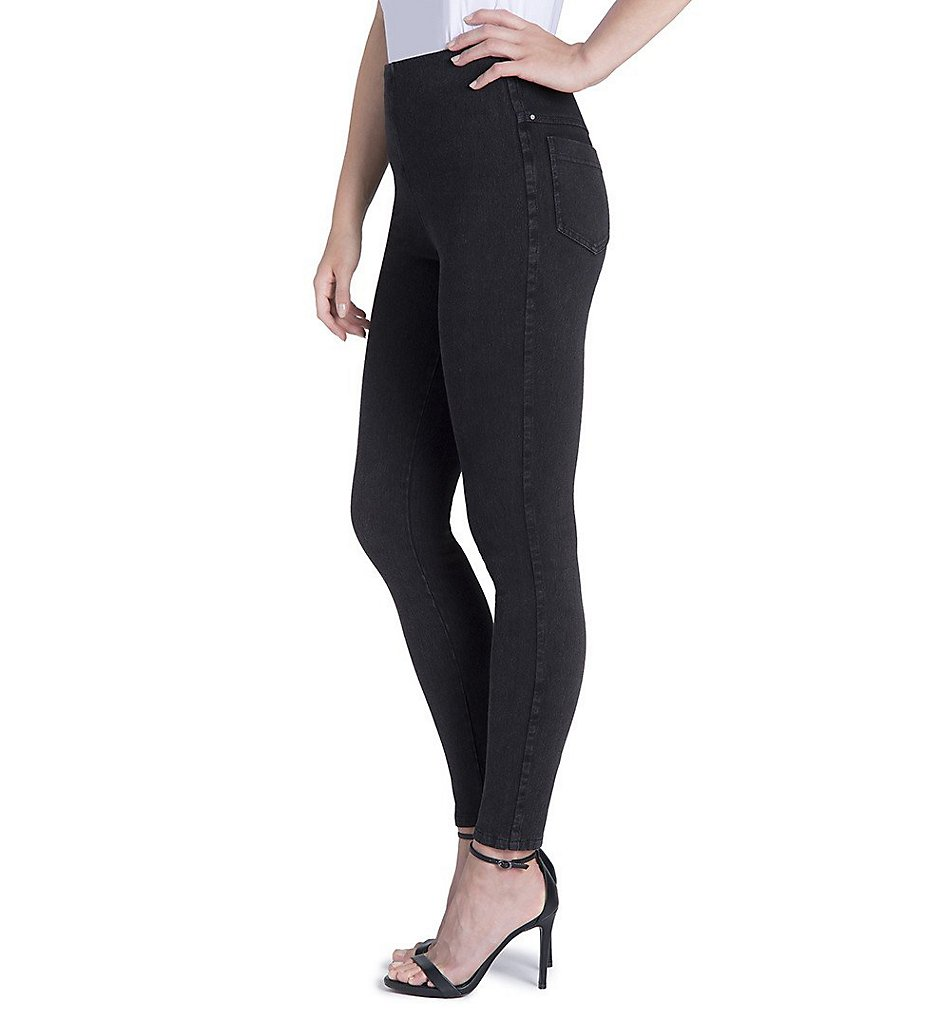 Lysse 1552 Tooth Pick Denim Shaping Leggings (Dark Grey)