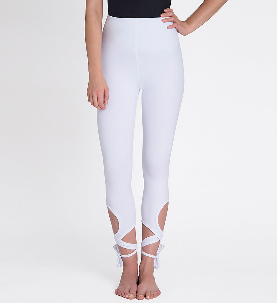 Lysse 1592 Wrap Ankle Leggings (White)