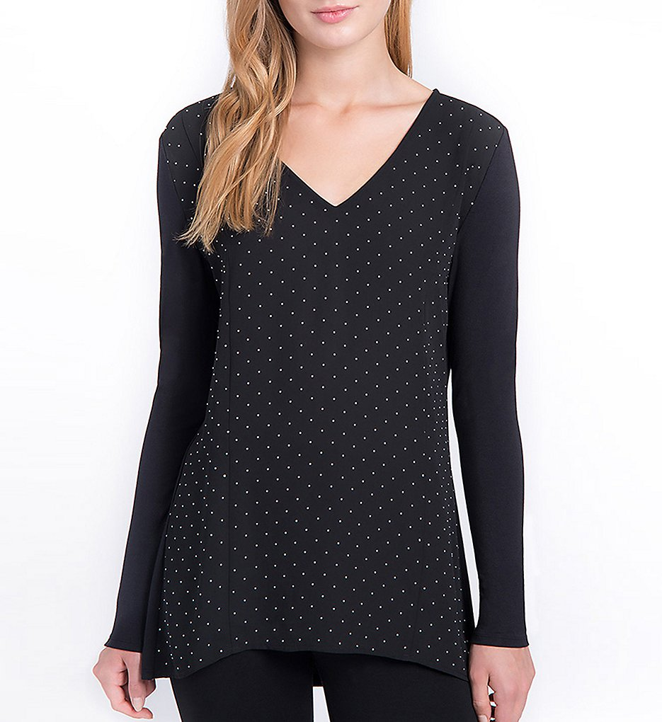 Lysse 1594 Amelia V-Neck Top (Black)