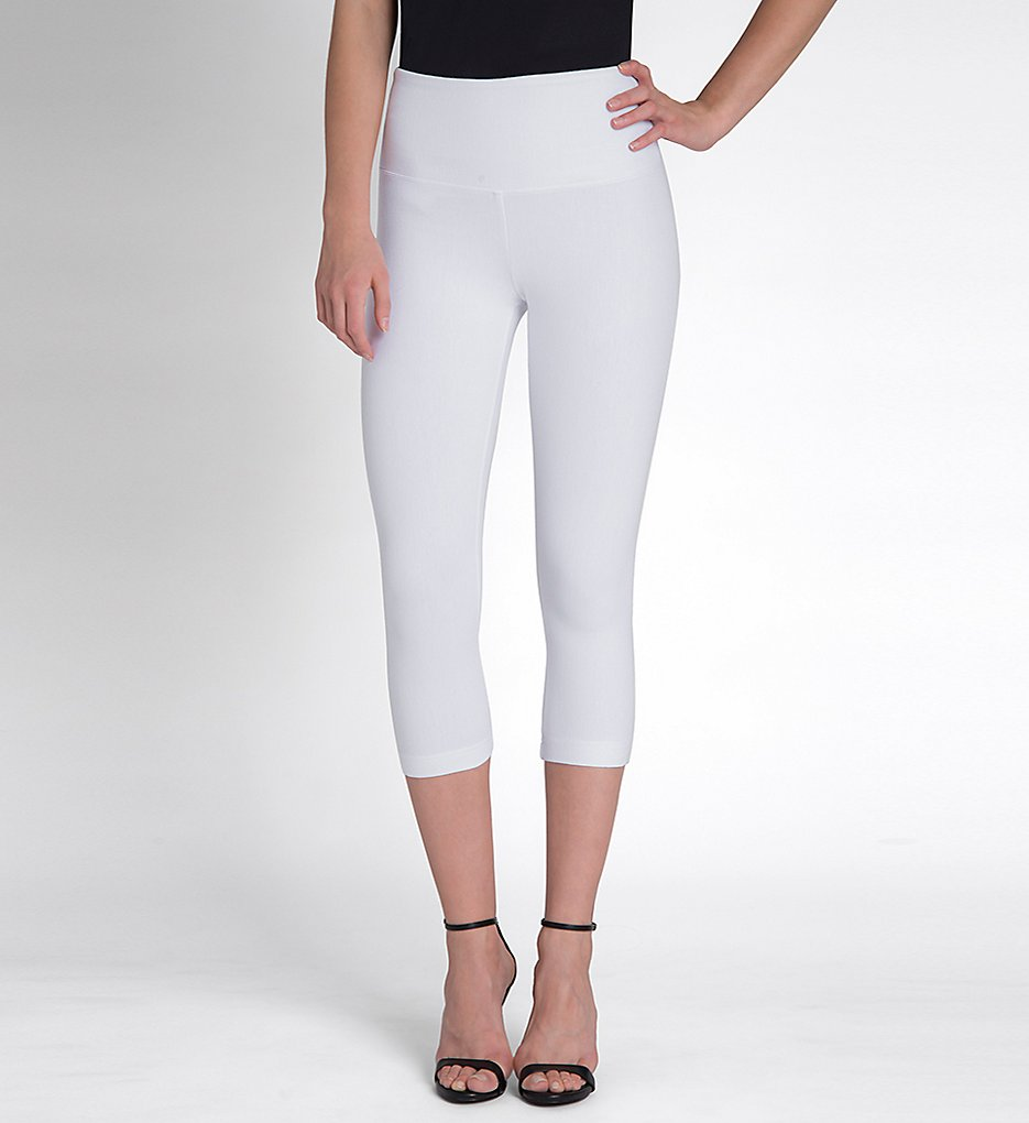 Lysse 6173C Perfect Denim Shaping Capri (White)