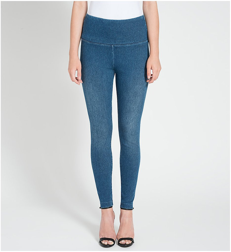 Lysse 6175 Slimming Denim Leggings (Mid Wash)