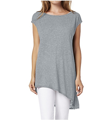 Michael Stars Brooklyn Jersey Boat Neck Asymmetric Hem Tee