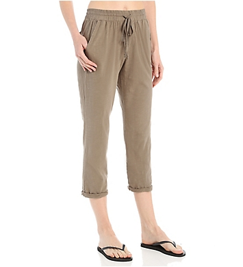 Michael Stars Drawstring Crop Pant with Roll Cuff