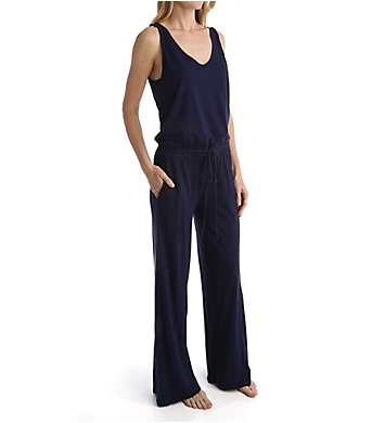 Michael Stars Sleeveless Double V-Neck Jumpsuit