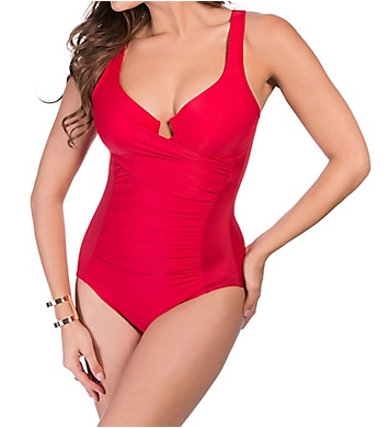 Miraclesuit Up and Coming Ambrosia Shirred One Piece Swimsuit