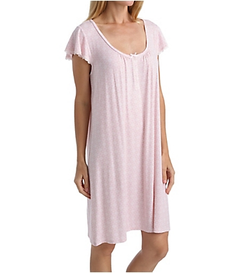 Miss Elaine Liquid Knit Short Sleeve Short Gown