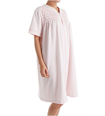 Miss Elaine Silkyknit French Terry Zip Short Robe