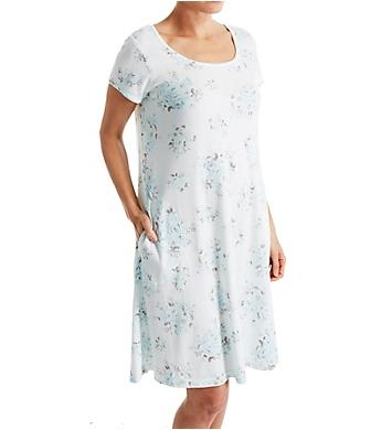 Miss Elaine Interlock Knit Short Gown
