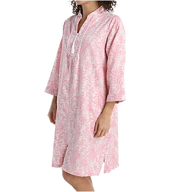 Miss Elaine Cotton Sateen Three Quarter Sleeve Short Caftan