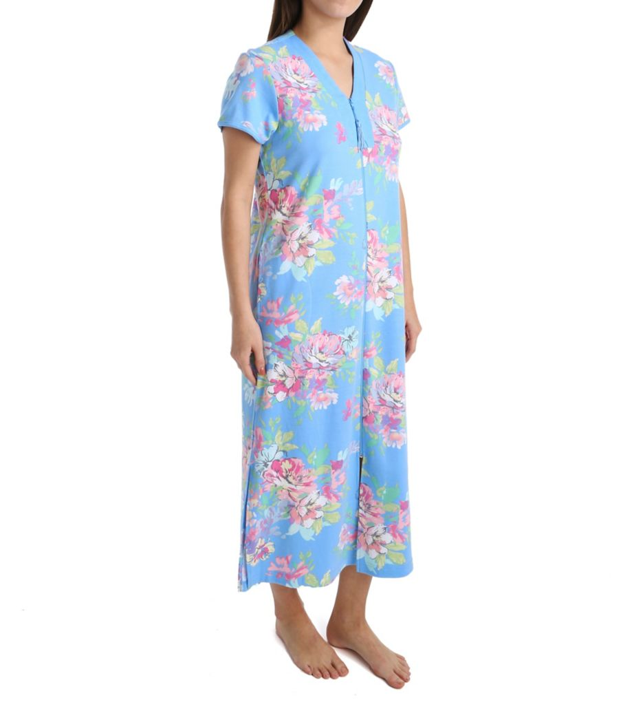 foto de Miss Elaine Interlock Knit Long Zip Robe 868825 Miss