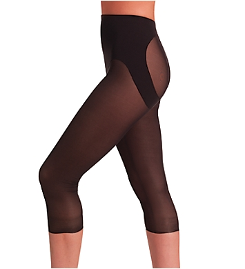 Naomi & Nicole Firm Control Sheer Rear Lifting Capri Pant
