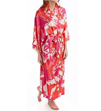 Natori Lucent Palms Printed Robe