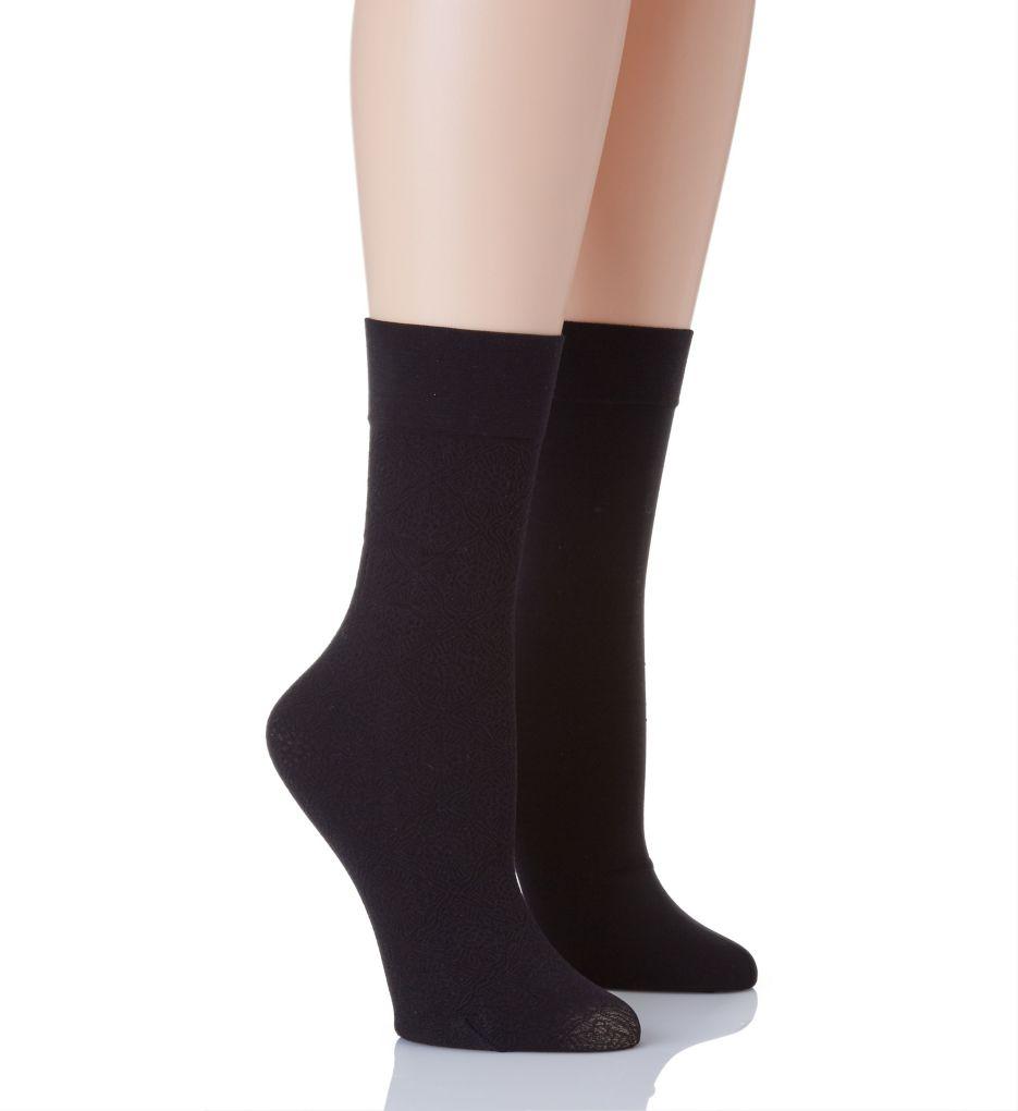 Natori Trouser Socks - 2 Pack NAT-750 - Natori Hosiery